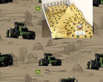 Brown Tractor Toddler Bedding Set Tractor Toddler Bedding Blanket Tractor Fitted Sheet Pillow Case 100% Cotton Toddler Bedding