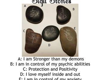 Hand-Carved Sigil Stones