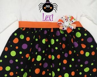 Halloween girl outfit, Halloween girls dress, Halloween toddler dress, Spider dress, Toddler Girls Fall Dress, Girls Fall Outfit