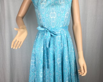 Impeccable Early 1960s Pleated Dress
