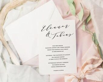 The Eleanor Suite | Wedding Invitation Suite, Wedding Invitation, Romantic Wedding Invitation, Calligraphy Wedding Invitation