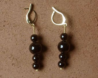 """""""Distant Asia"""" collection earrings Black Onyx."""