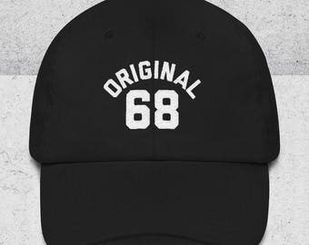 50th Birthday Gifts for Men & Women - Dad Hats - ORIGINAL 68 Baseball Hat - 50th Birthday Gift Ideas - Black Dad Cap -1968 Hats -Embroidered