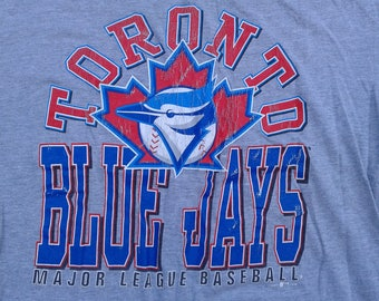 Vintage 1998 Toronto Blue Jays grey t-shirt Made in Canada large
