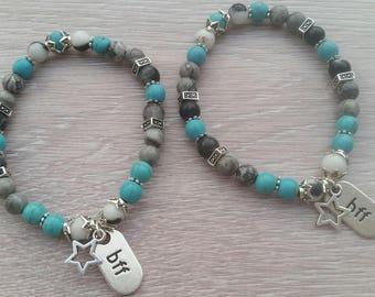 Duo of Malas Bracelets The BFF, friendship jewel, star jewel, girl jewel, friendship bracelet, BFF bracelet, girl gift, best friend gift