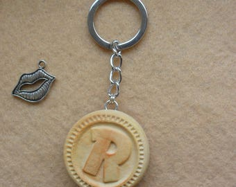 Key Ring Biscuit Ringo Fimo