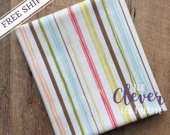 Quilting Fabric, Riley Blake, Cream Stripe of Woodland Springs by Designs by Dani