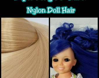 SUPER LONG 36 inch Hank 1oz (28g) Nylon High Temp Nylon Doll Hair Multiple Color Options for Rerooting Tall Dolls
