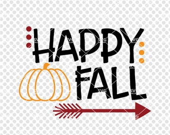 Happy fall svg   Etsy