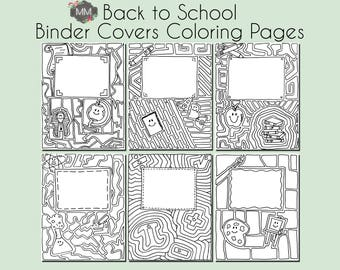Binder cover etsy for Binder coloring pages