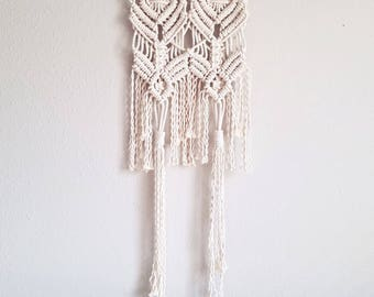 "SMALL SUN MEDALLION |:| macrame wall hanging | 16"" wide 