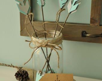 Custom Woodland Baby Shower Decorations, Woodland Baby Shower Centerpieces, Arrow Decorations, Woodland Decor, Baby Shower Decor