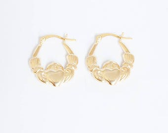 Gold creole gypsy earrings
