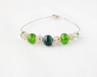 """Bracelet """"Blue glass"""" by family history"""