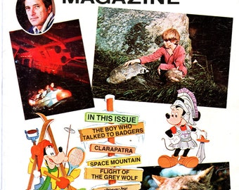 Disney Magazine Ivory Soap Premium July 1976 Issue Space Mountain Rock Hudson