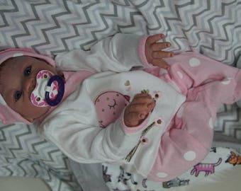 Reborn baby boy or Girl doll  Vinyl 18 inch doll Nursing baby doll  sculpt Adriana by Anneke Doeven