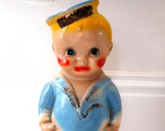 Vintage Carnival Chalkware Sailor Boy