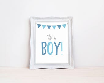 """Its A Boy Gender Reveal Announcement Sign 