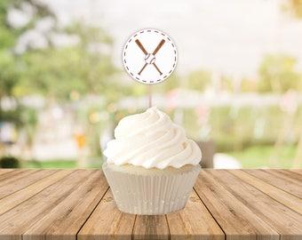 Baseball Printable Cupcake Toppers || Printable Baseball Birthday Party Decorations || Baseball Baby Shower Cupcake Topper (DIGITAL PRODUCT)