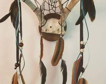 Mounted Antler Dreamcatcher