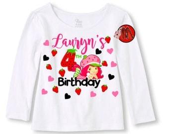 Strawberry Shortcake Birthday Shirt Long Sleeve T-shirt