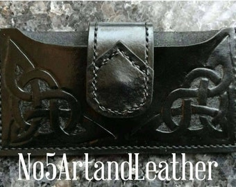 Leather Phone Case, Phone Holster, Leather Carved Phone Case, Leather Case, Phone Case Holster, Cell Phone Case, Phone Case