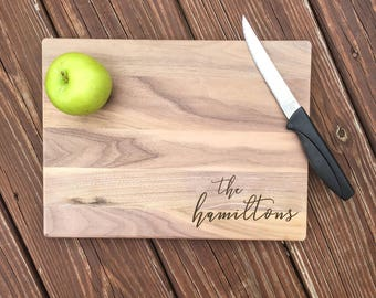 Custom Cutting Board-Engraved Cutting Board, Personalized Cutting Board, Wedding Gift, Housewarming Gift, Anniversary Gift, Maple, Walnut