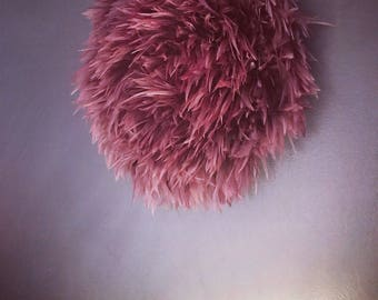 New Mini Bohemian Luxe Hand Dyed / Hand Crafted JuJu Hat Bohemian Feather Decor
