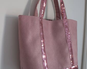 Small matching glitter band and pink girl tote bag