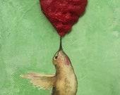 Stylish wall art, downloadable print, heart artwork, bedroom art, bedroom artwork, shelf art, shelf artwork, hummingbird artwork