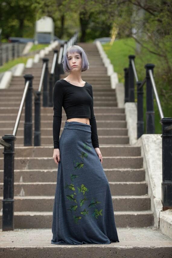 Fish Maxi Skirt