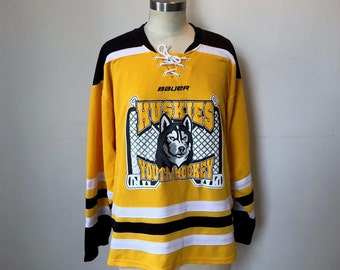 Yellow Huskies Hockey Jersey by Bauer