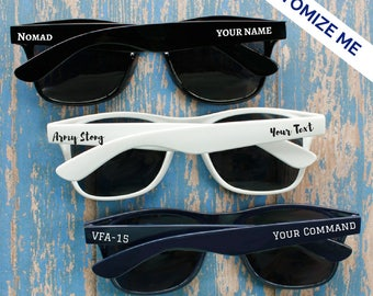Custom Sunglasses- Party Sunglasses- Military Gift- Military Spouse Gift- Deployment Gift- Personalized Sunglasses