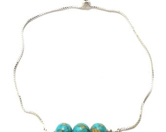 Imperial Turquoise Adjustable Chain Bracelet