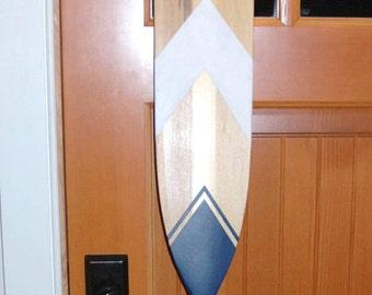 Hand Painted Decorative Canoe Paddle Oar Wall Art - The California Scrubjay- wood canoe paddle,nautical,decor,rustic,lake,decor,wall hanging