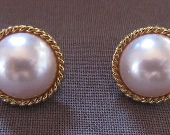Pair of Faux Pearl Earrings