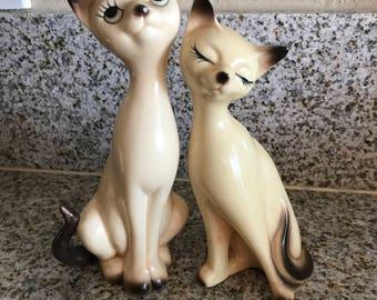 Vintage Siamese Cat Statues