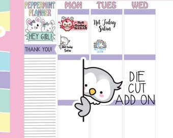 Not today Satan Planner Stickers --- Add On Die Cute --- #268