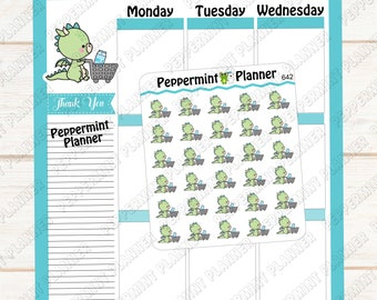 JJ Grocery Shopping --- Planner Stickers --- 642