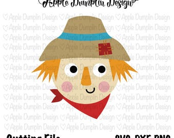 Scarecrow SVG, DXF, PNG Cutting Files, Cricut, Silhouette Cameo, Vector Cut Files, Pumpkin Svg, Girl Svg, Fall Svg, Fall Cut Files