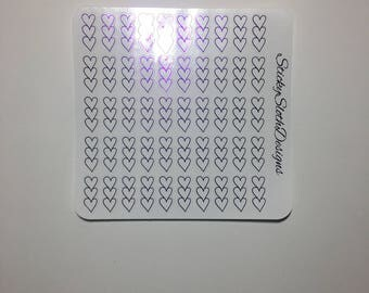Foiled Heart Checklist Planner Stickers