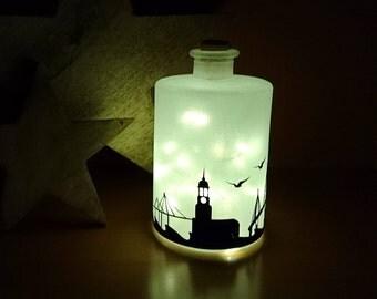 Lichtflasche Flaschenlicht Hamburg von Frollein KarLa