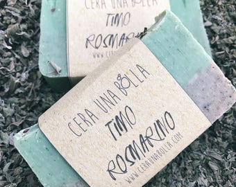 Handmade soap, natural SOAP Rosemary, Thyme, essential oils, vegan, vegetable, thyme, oil palm, solid, decorative, bio