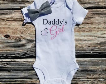 Daddy's Girl bodysuit, Baby Shower gift, Take home outfit