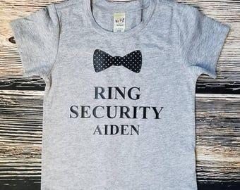 Ring Security Shirt, Ring Bearer Shirt, Wedding Rehearsal Shirt