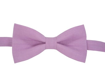 Pink Bow Tie for wedding linen bow tie for men bow tie pink bow tie for baby pink boy's bow tie men's pink bow tie adult bow tie