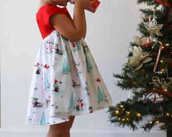 Girls Christmas Dress - Girls Holiday Dress - Princess Jovie Dress - Toddler Christmas Dress - Girls Fashion - Elf Dress - Party Dress