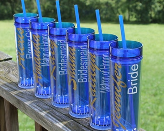 Personalized bridesmaids tumblers/wedding party gifts/customized bridesmaids gifts/maid of honor gifts, bridal party gifts,bridesmaid cups