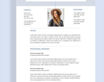 "Resume template 4 page | CV template + cover letter for MS Word | Instant digital download | Professional template | ""Sophia"""