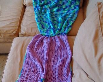 Crochet Mermaid Tail, Adult Mermaid Tail, Child Mermaid Tail. Afghan,